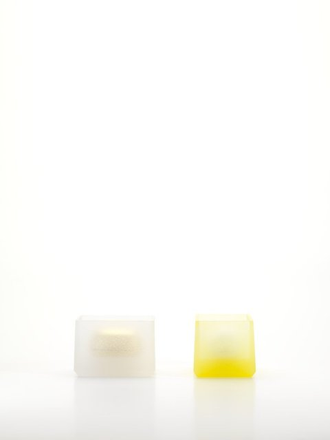 , 'Pair of Contained Boxes [Clear Frit & Gold and Yellow Frit & White],' 2016, Taste Contemporary