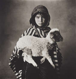 Moroccan Child with Lamb, 1971