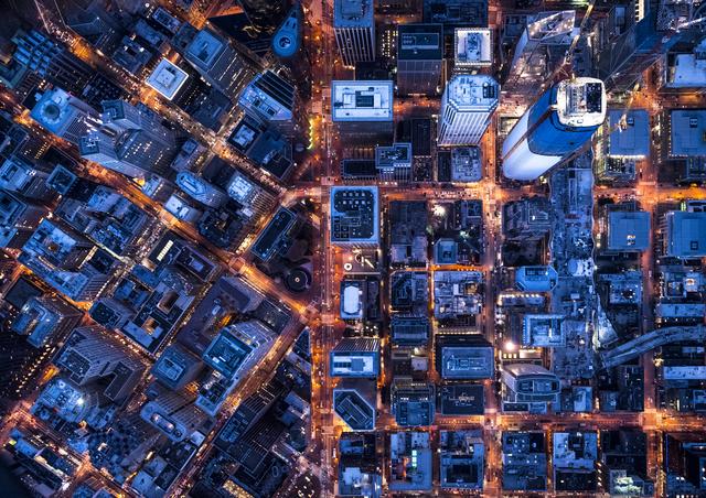 , 'Aerial Views Block Design Pine St,' 2017, aQur Gallery