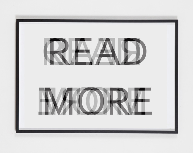 , 'Read more,' 2017, Evelyn Drewes Galerie