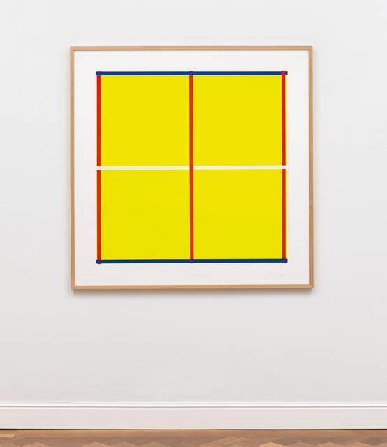 , 'Gelb mit Kreuz,' 1995, Ludorff