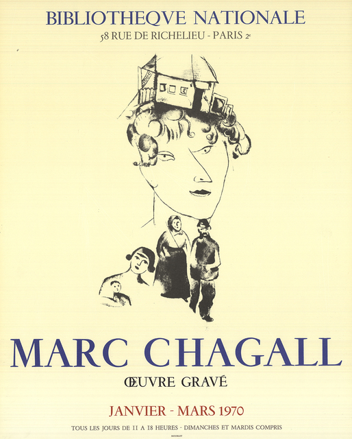 Marc Chagall, 'Family Self-Portrait', 1970, Ephemera or Merchandise, Stone Lithograph, ArtWise