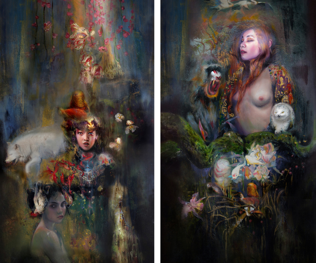 , 'Bride Series Diptych,' 2016, 22blocks