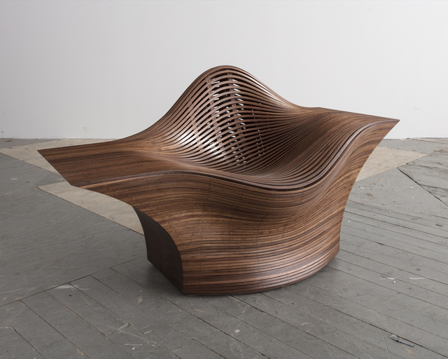 ", '""Steam 25"" lounge chair in steam-bent walnut,' 2015, R & Company"