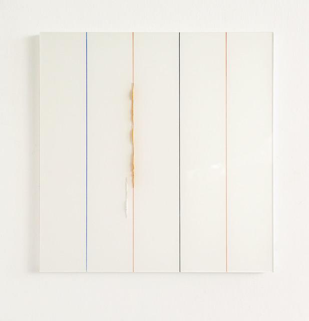 , 'Orange Rosa durch Streifen ,' 2017, Galerie Heike Strelow