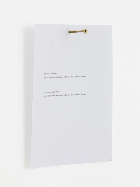 , 'How To Improve the World,' 2017, Fisher Parrish Gallery
