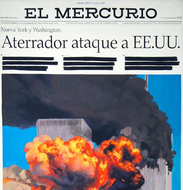 , 'El Mercurio torres gamelas,' 2003, Isabel Aninat