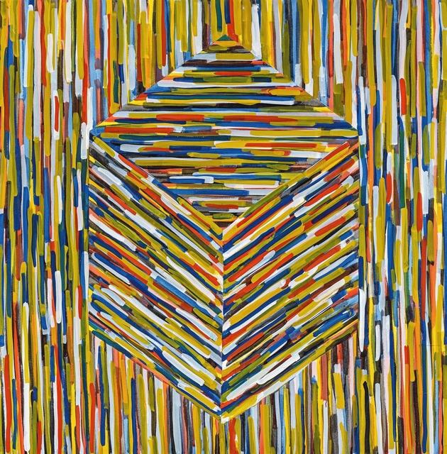 Sol LeWitt, 'Cube (B)', 1994, Painting, Gouache on strong paper, Van Ham