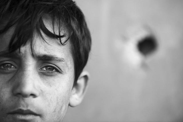 , 'Boy's Head, Beit Hanoun,' 2011, Q0DE