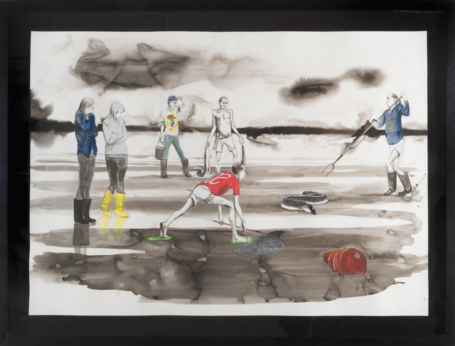 , 'Untitled (Dilettantes Eel hunting in the Memory of Consciousness),' 2014, Pilar Corrias Gallery