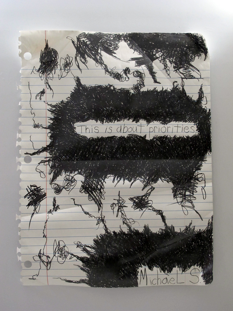 Michael Scoggins, 'This is about priorities', 2014, Diana Lowenstein Gallery