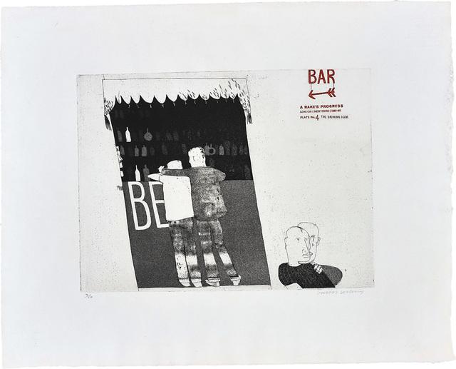 David Hockney, 'The Drinking Scene, plate 4 from A Rake's Progress', 1961-63, Phillips
