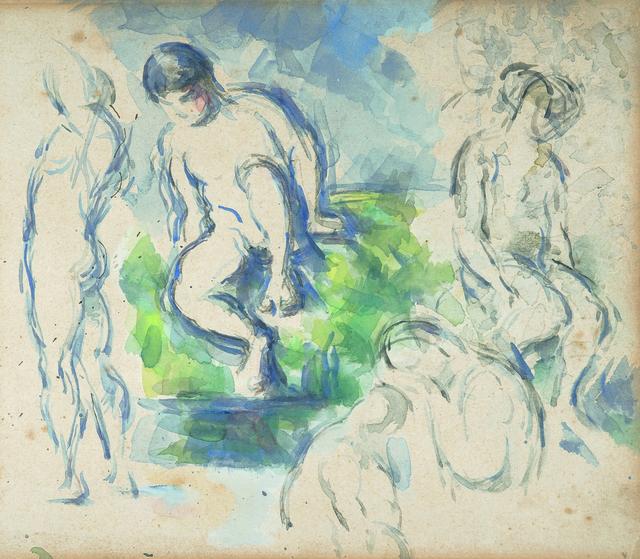 , 'Paul Cézanne Badende (Detail),' ca. 1890, Kunstmuseum Basel