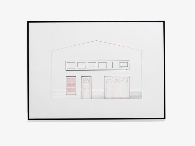, 'Dessin à la règle - Série Façades,' 2013, Galerie Laurent Mueller