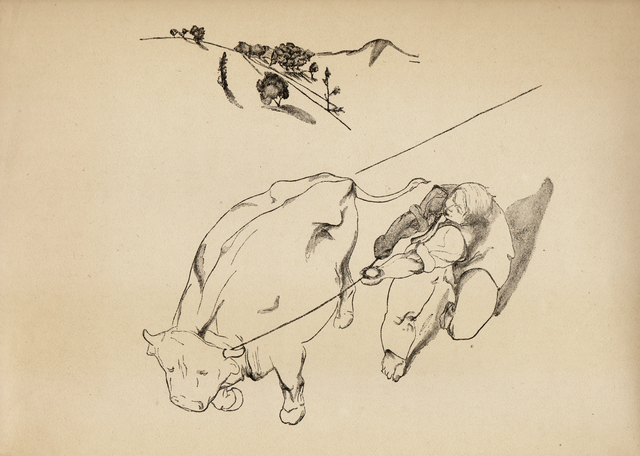 , 'With the Ox,' 1937, Nasui Collection & Gallery