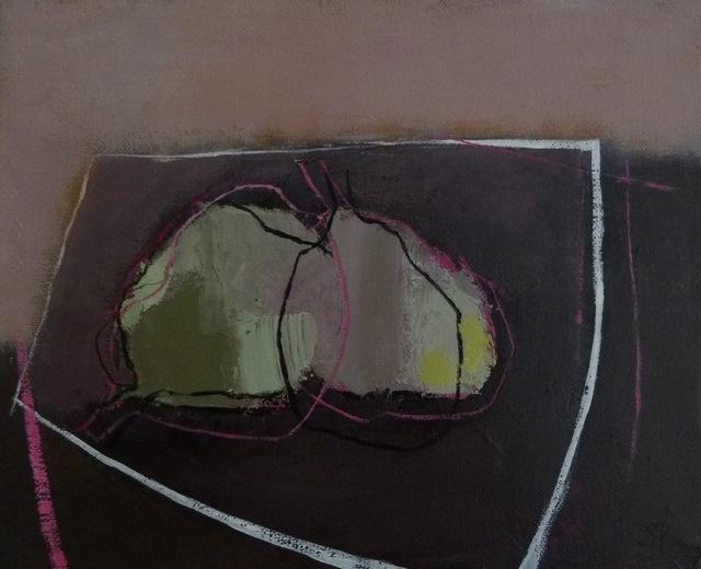 , '2 Poires Sur une Table Grise,' 2012, Susan Eley Fine Art