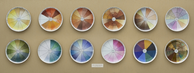 , 'China-painting Color Test Plates from The Dinner Party,' 1974, Brooklyn Museum