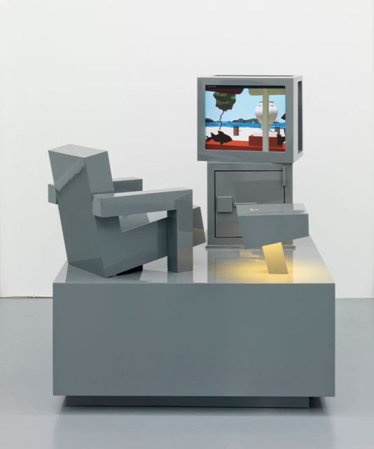 Kolkoz, 'Film de vacances, Hong Kong', 2006, Sculpture, Wood, paint, DVD, Video player, screen (vidéo 9'45'')/ Bois medium, peinture, DVD, lecteur de DVD, écran (vidéo 9'45''), Perrotin
