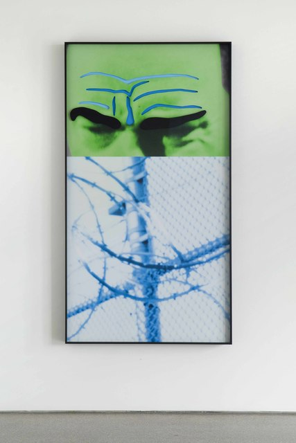 , 'Raised Eyebrows/Furrowed Foreheads: Fence (with Barbed Wire),' 2009, Galerie Greta Meert