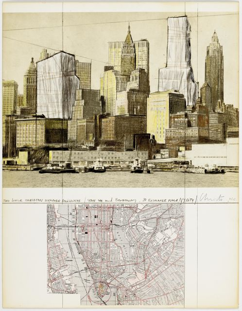 Christo, 'Two Lower Manhattan Wrapped Buildings', 1980, Koller Auctions
