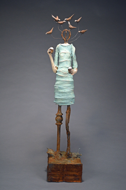 , 'Lady on a Limb Looking for Little Gods,' 2018, Sue Greenwood Fine Art