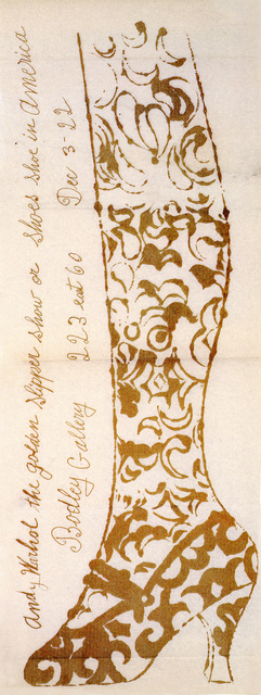 Andy Warhol, 'Golden Slipper', 1956, Woodward Gallery