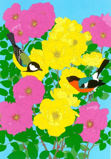 , 'Bullfinch, Great Tit & Roses,' 2013, TAG Fine Arts