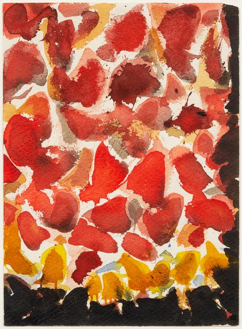 Sam Francis, 'Red, Yellow, and Black (SF54-069)', 1954, Hindman