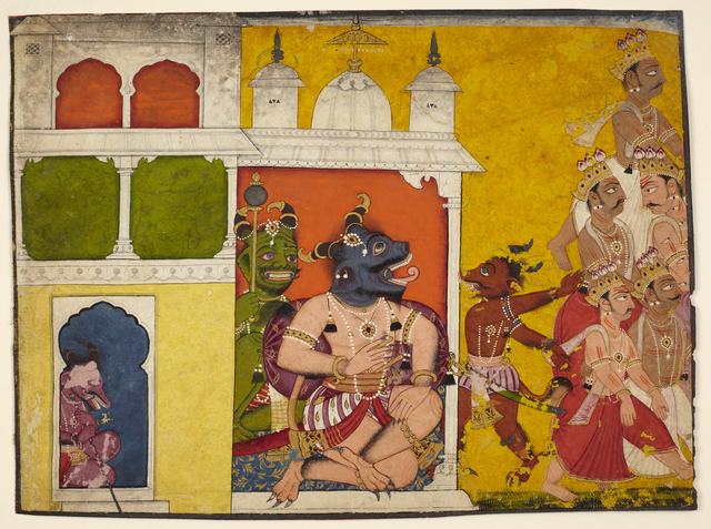 , 'Demons Receiving Deities,' 18th century, Princeton University Art Museum