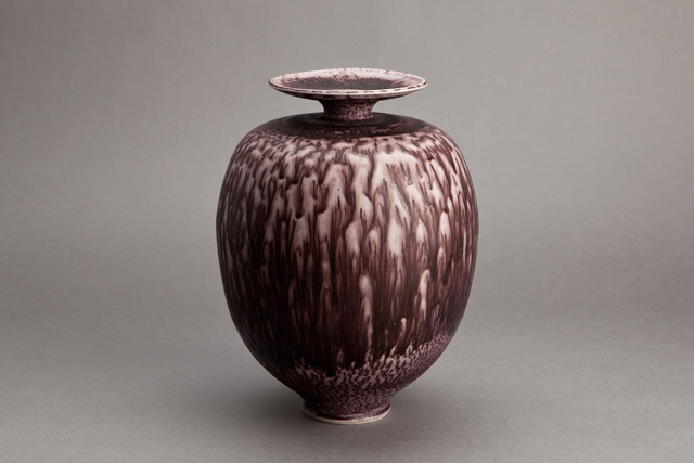 , 'Vase, dark red textured nickel glaze,' , Pucker Gallery