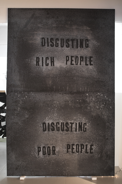 , 'DISGUSTING RICH PEOPLE, DISGUSTING POOR PEOPLE,' 2014, Feuer/Mesler