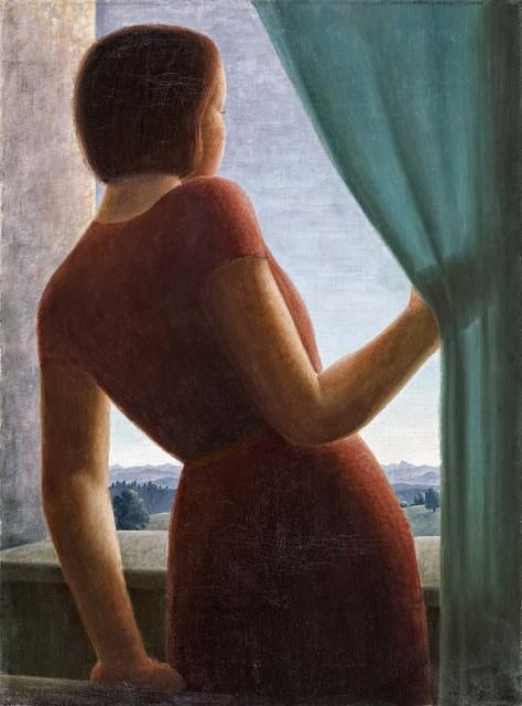 Georg Gerhard Schrimpf, 'Mädchen am Fenster', 1935, Painting, Oil on canvas, Van Ham