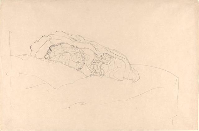 Gustav Klimt, 'Curled up Girl on Bed', 1916/1917, National Gallery of Art, Washington, D.C.