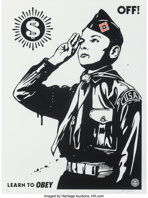 Shepard Fairey (OBEY), 'Learn to Obey', 2017, Heritage Auctions