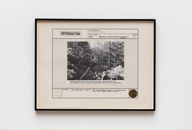 Iain Baxter&, 'Page from the National Gallery Exhibition Catalog', 1969, Hales Gallery