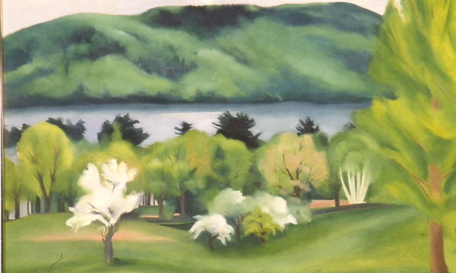 Georgia O'Keeffe, 'Lake George by Early Moonrise', 1930, Neuberger Museum of Art