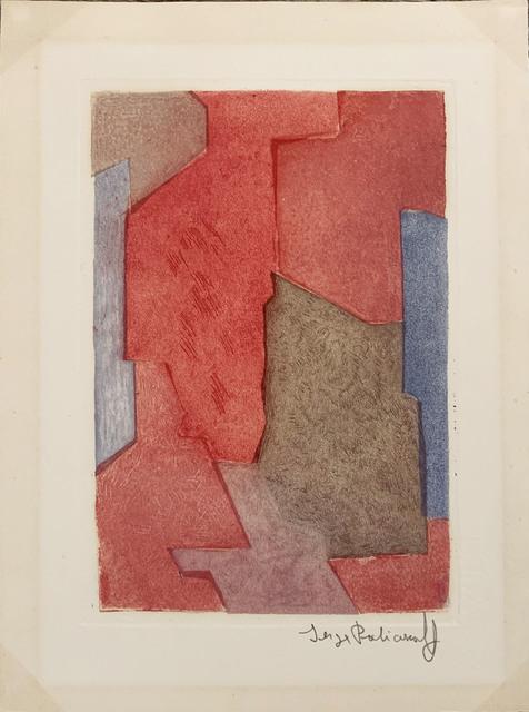 Serge Poliakoff, ' Composition mauve, bleue et rouge n °XXI', 1964, Le Coin des Arts