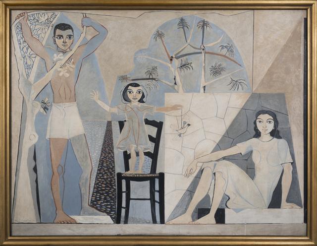 , 'Three Figures, Poros,' ca. 1950s, Osborne Samuel