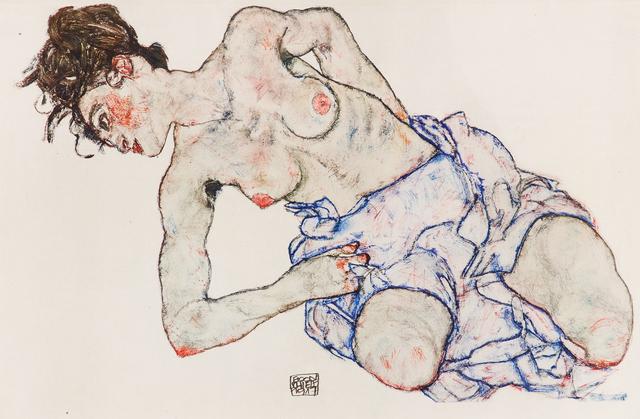 Egon Schiele, 'Kneeling Female Nude', 1920, Wallector