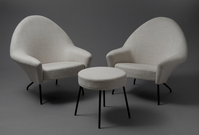 , 'Pair of armchairs and stool 770,' 1958, Galerie Pascal Cuisinier