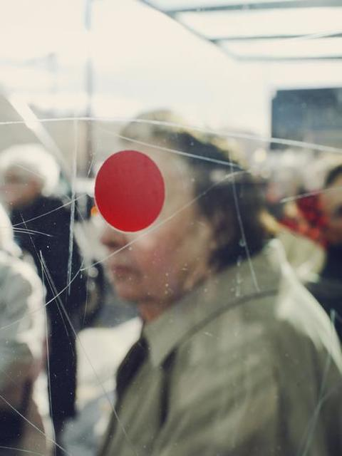 , 'A red dot on the glass of a bus stop. Sete, France. ,' 2011, Magnum Photos