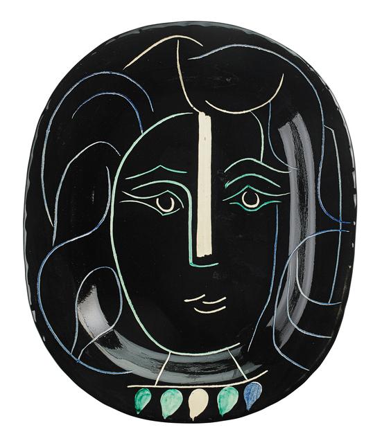 Pablo Picasso, 'Woman's Face charger (Visage de Femme), edition of 400, France', des. 1953, Rago/Wright