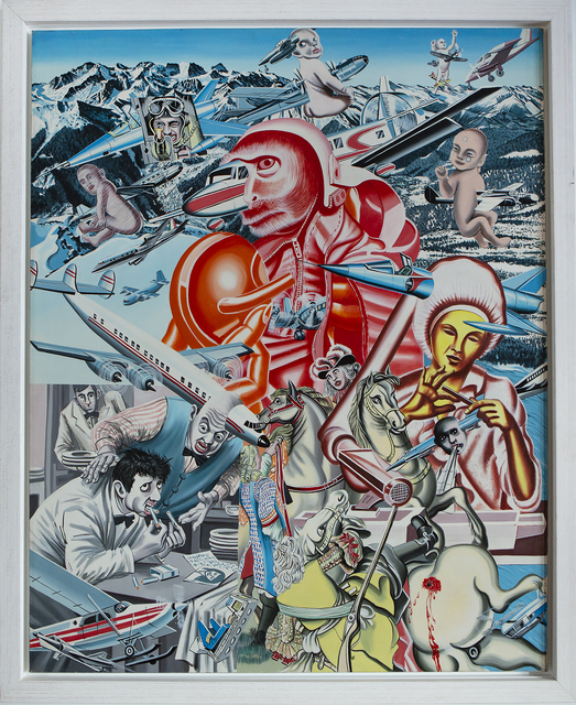 Erró, 'The Speed of Monkey Spaceman ', 1970, Painting, Acrylic on canvas, Sevil Dolmacı Art Gallery