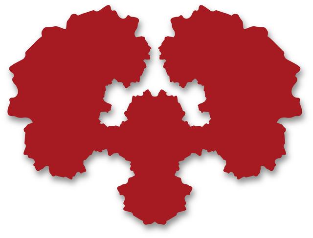 , 'Rorschach Portrait (red),' 2012, Michael Fuchs Galerie