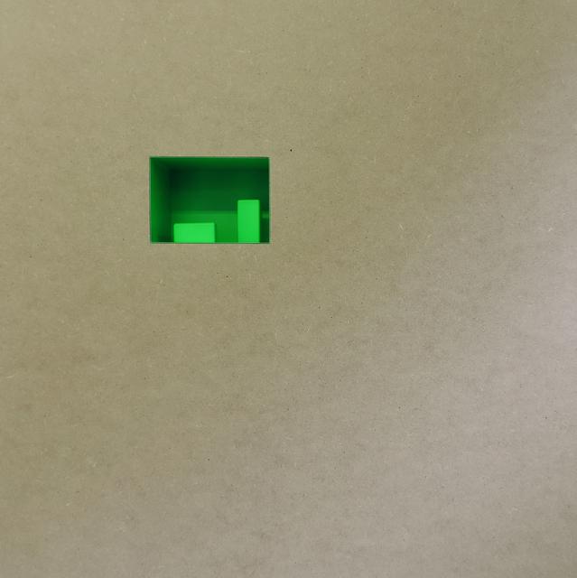 , 'Vuoto compositivo verde con 2 forme  ,' 2017, Galerie La Ligne