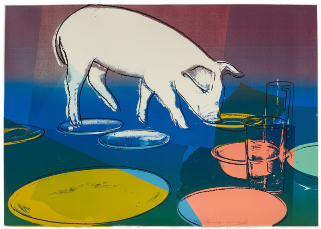 Andy Warhol, 'Fiesta Pig', 1979, Print, Color screenprint on Arches wove paper under glass, John Moran Auctioneers