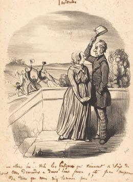 Honoré Daumier, 'Allons bon!... voila les grafignons...', 1845, National Gallery of Art, Washington, D.C.