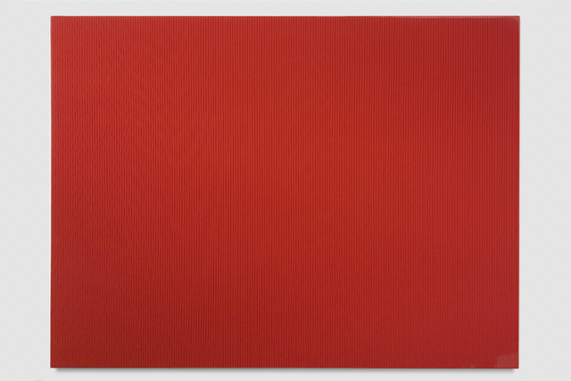 , 'Untitled (Fire Red Polyurethane),' 2017, PRAZ-DELAVALLADE