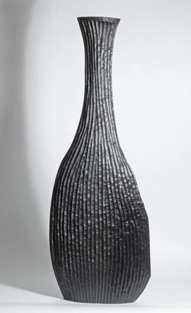 Malcolm Martin and Gaynor Dowling, 'BLACK RIBBED VESSEL', 2016, Traver Gallery
