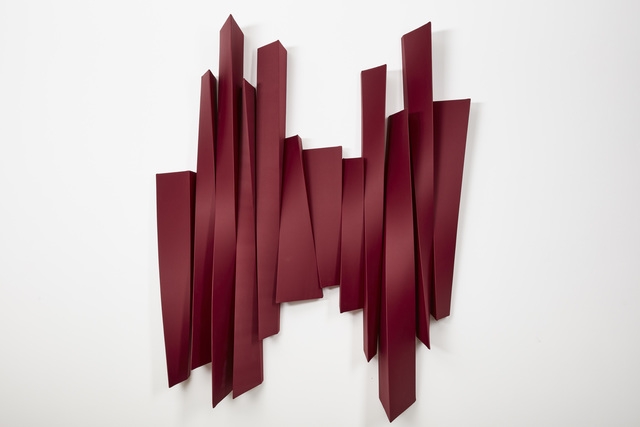 Rania Schoretsaniti, 'Red Verticality', 2018, Sculpture, Wood and silk, rosenfeld